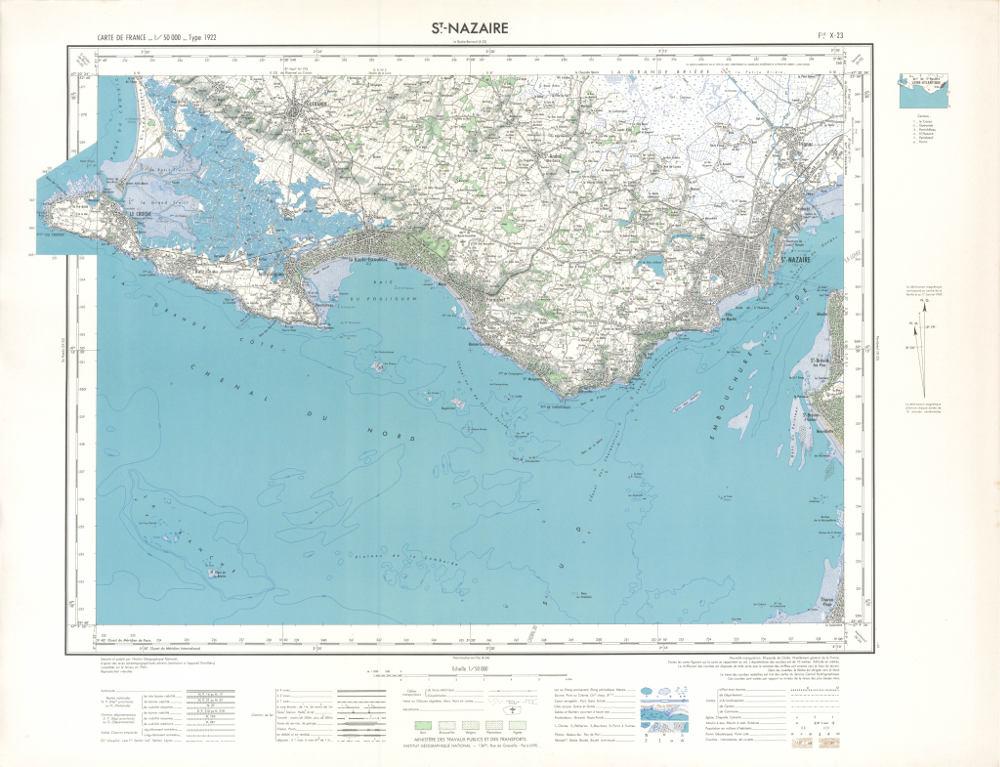 IGN Saint-Nazaire 1960<br/>Approche historique et géographique