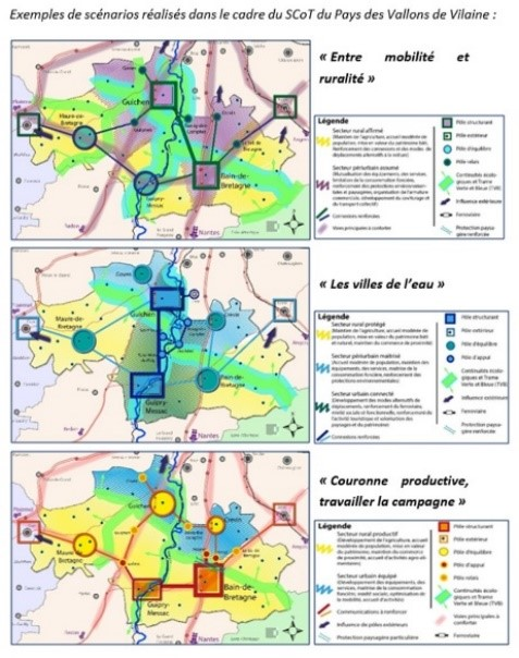 Scénarii et stratégies territoriales<br/>SCoT du Pays des vallons de Vilaine