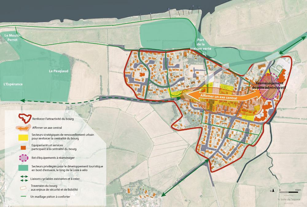 Approche urbaine – revitalisation de la centralité<br/>Commune de Corsept